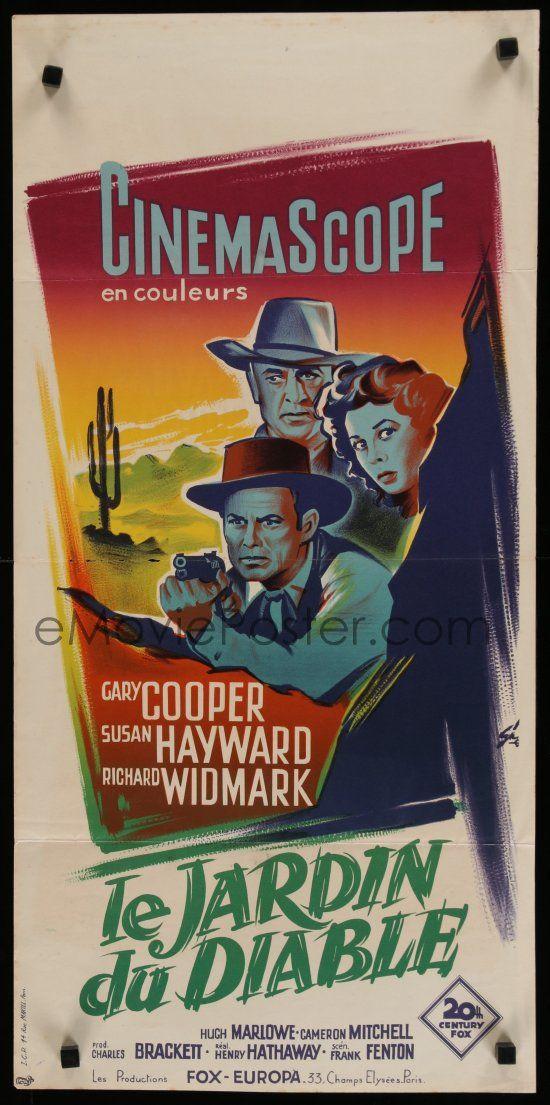 Garden of evil Gary Cooper vintage movie poster