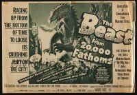 2g004 BEAST FROM 20,000 FATHOMS herald '53 Ray Bradbury, nothing like it in 140 million years!