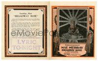 2g011 BROADWAY ROSE herald '22 great images of beautiful dancer Mae Murray in exotic costumes!