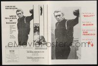 2g012 BULLITT herald '68 great images of Steve McQueen & Bisset in Peter Yates car chase classic!