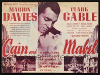2g014 CAIN & MABEL herald '36 Marion Davies, boxer Clark Gable, great different images!
