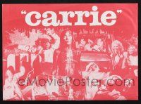 2g015 CARRIE herald '76 if you've got a taste for terror, take Sissy Spacek to the prom!