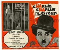 2g017 CIRCUS herald '28 Charlie Chaplin in cage with lion & more different images!