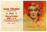 2g019 COMMON CLAY herald '30 wonderful color portrait of Constance Bennett by Hal Phyfe & more!