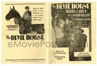 2g025 DEVIL HORSE herald '32 Harry Carey, Noah Beery, Frankie Darro, serial of a whirlwind!