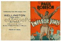 2g029 EMPEROR JONES herald '33 great art of Paul Robeson, the pullman porter who became a king!