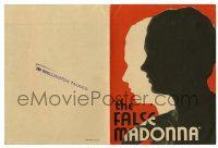2g030 FALSE MADONNA herald '31 cool silhouette art of Kay Francis, deception was her business!