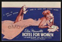 2g042 HOTEL FOR WOMEN herald '39 wonderful sexy pin-up art by George Petty + photo montage!