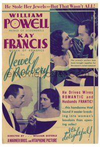 2g050 JEWEL ROBBERY herald '32 William Powell stole Kay Francis' jewels, but that wasn't all!