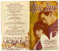 2g057 LILAC TIME color herald '28 British flyer Gary Cooper loves French Colleen Moore in WWI!