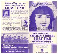 2g058 LILAC TIME purple herald '28 British flyer Gary Cooper loves French Colleen Moore in WWI!
