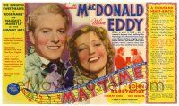 2g062 MAYTIME herald '37 singing sweethearts Jeanette MacDonald & Nelson Eddy, different images!