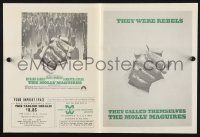2g063 MOLLY MAGUIRES herald '70 cool image of coal miner fist punching through poster!