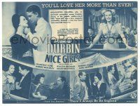 2g064 NICE GIRL Australian herald '41 Deanna Durbin, Franchot Tone, great different images!