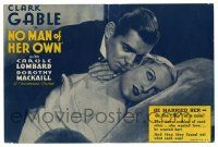 2g065 NO MAN OF HER OWN herald '32 America's heart throb Clark Gable & sexy Carole Lombard!