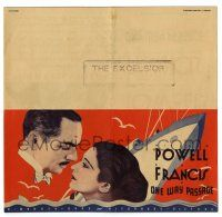 2g067 ONE WAY PASSAGE herald '32 William Powell & Kay Francis in the Grand Hotel of the seas!