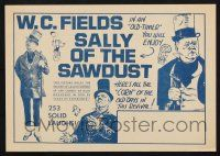 2g078 SALLY OF THE SAWDUST herald R60s art & photos of W.C. Fields, D.W. Griffith circus comedy!
