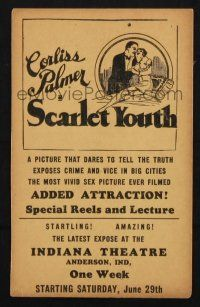 2g079 SCARLET YOUTH herald '28 the most vivid sex picture ever filmed that dares to tell the truth!