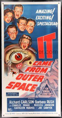 2w070 IT CAME FROM OUTER SPACE linen Aust 3sh '53 Jack Arnold classic 3-D sci-fi, cool artwork!
