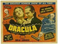 2x001 DRACULA TC R51 Tod Browning, Bela Lugosi as the vampire that lives on human blood!
