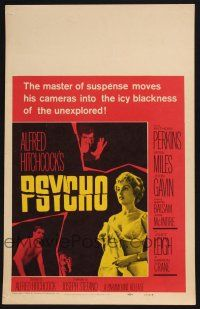 2y282 PSYCHO WC '60 sexy half-dressed Janet Leigh, Anthony Perkins, Alfred Hitchcock classic!