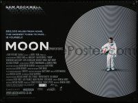 3a099 MOON DS British quad '09 great image of lonely Sam Rockwell, cool design!