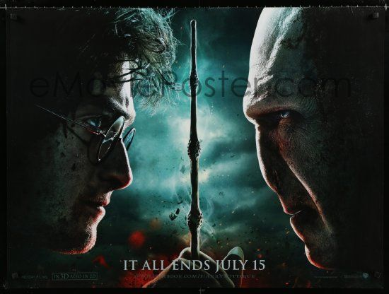 1 Of 3a087 HARRY POTTER THE DEATHLY HALLOWS PART 2 Teaser DS British Quad 10 It All Ends Here