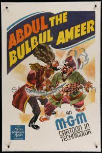 3p006 ABDUL THE BULBUL AMEER linen 1sh '41 art of Russian nobleman & Arab sultan in death battle!