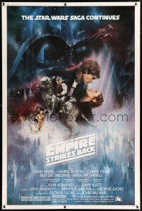 3t009 EMPIRE STRIKES BACK 40x60 '80 Lucas, classic Gone With The Wind style art by Roger Kastel!