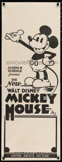 3t449 NEW WALT DISNEY MICKEY MOUSE long Aust daybill 32 cartoon art of Mickey with pie-cut eyes