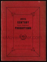 3t235 20TH CENTURY 1926-27 campaign book '26 great full-color & 2-color art for upcoming movies!