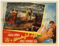 3t327 IT'S A WONDERFUL LIFE LC #8 '46 James Stewart & Donna Reed in flashback, Frank Capra classic