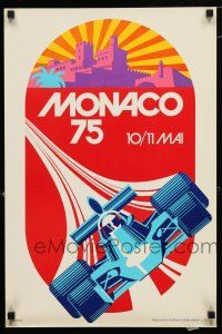 3x108 MONACO 16x24 Monacan special '75 art of F1 race car and cityscape by Michael Turner, rare!