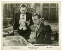 3y271 DRACULA 8x10 still R51 vampire Bela Lugosi stares excitedly at Dwight Frye's cut finger!