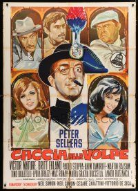 4c003 AFTER THE FOX Italian 1p '66 De Sica, Sellers, Mature, Ekland, Balsam, different Avelli art!
