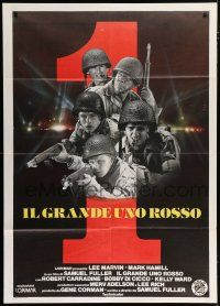 4c013 BIG RED ONE Italian 1p '80 directed by Samuel Fuller, Lee Marvin, Mark Hamill, different!