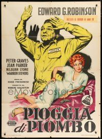 4c015 BLACK TUESDAY Italian 1p R60s different Manno art of convict Edward G Robinson & Jean Parker!