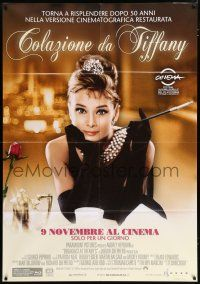 4c019 BREAKFAST AT TIFFANY'S advance Italian 1p R11 Audrey Hepburn, one day 50th anniversary release