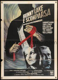 4c023 BUNNY LAKE IS MISSING Italian 1p '66 directed by Otto Preminger, different Kerfyser artwork!