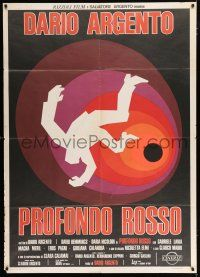 4c033 DEEP RED Italian 1p '75 Dario Argento's Profondo Rosso, cool completely different artwork!
