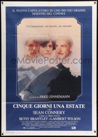 4c047 FIVE DAYS ONE SUMMER Italian 1p '83 Sean Connery, directed by Fred Zinnemann!
