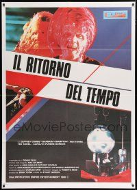 4c051 FROM BEYOND Italian 1p '86 H.P. Lovecraft, different science fiction horror image!