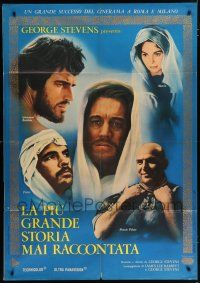 4c057 GREATEST STORY EVER TOLD Italian 1p '65 George Stevens, Max von Sydow as Jesus, different!