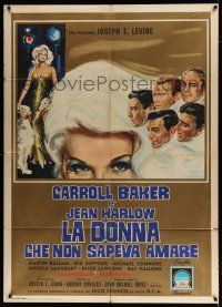 4c060 HARLOW Italian 1p '65 sexy Carroll Baker in the title role, different art!