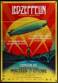 4c077 LED ZEPPELIN: CELEBRATION DAY advance Italian 1p '12 Live from London 2007, cool art!