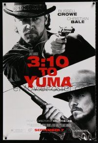 4d016 3:10 TO YUMA teaser DS 1sh '07 cowboys Russell Crowe & Christian Bale, cool design!