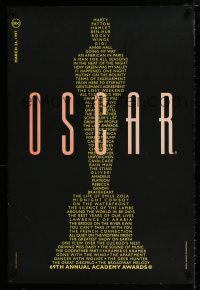 4d001 69TH ANNUAL ACADEMY AWARDS 1sh '97 image of Oscar from winning movie titles!
