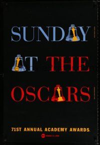 4d003 71ST ANNUAL ACADEMY AWARDS 1sh '99 Sunday at the Oscars, cool ringing bell design!