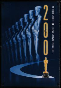 4d005 73RD ACADEMY AWARDS 1sh '01 cool Alex Swart design & image of many Oscars!