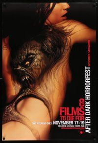 4d024 8 FILMS TO DIE FOR AFTER DARK HORROR FEST close-up style teaser DS 1sh '06 tattoo on woman!